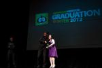 Accepting my Diploma from Bobby Beck :)